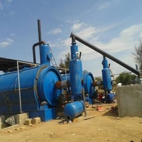 12 tons waste tyre pyrolysis machine to oil