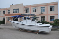 Liya 4-8m double hull panga boat fishing used cruise fiberglass open boat