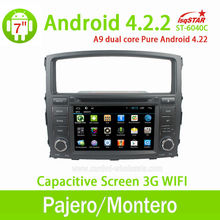 Mitsubishi Pajero V97/V93 Android 4.2.2 Car PC DVD radio with Capacitive Screen GPS 1G DDR3 RAM ARM Cortex A10 1.6GHZ Dual Core