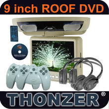 9 inch Roof Car DVD with 32Bit Wireless Game Function +DVD+SD/USB+ AV input & output (TZ-DR900)