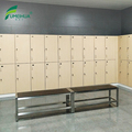 Changing room smart card melamine lockers