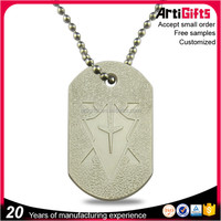 China factory customized metal military dog tags