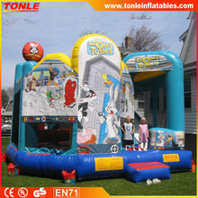 Looney Tunes 5in1 inflatable Jumping Castle Combo, inflatable bouncer slide