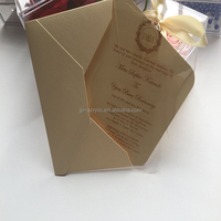 Transparent and customizable acrylic wedding invitation cards