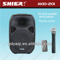 portable wireless usb/sd active multimedia amplified speaker system AK10-201