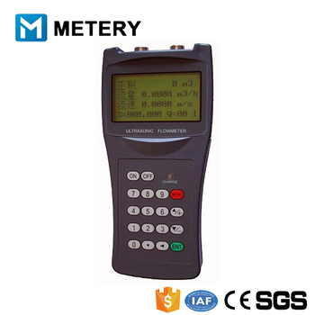 Hand held type ultrasonic flow meter with clamp on holder