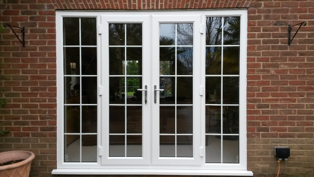 Yy home hot sale double glass aluminium soundproof used for Exterior double french doors for sale