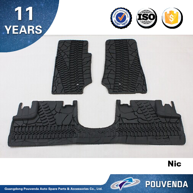 Rubber Full set Floor Mat Car Mat For Jeep Wrangler JK 2007-2014 Floor mats Auto accessories