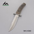 Fixed Blade hunting knife with color wood handle