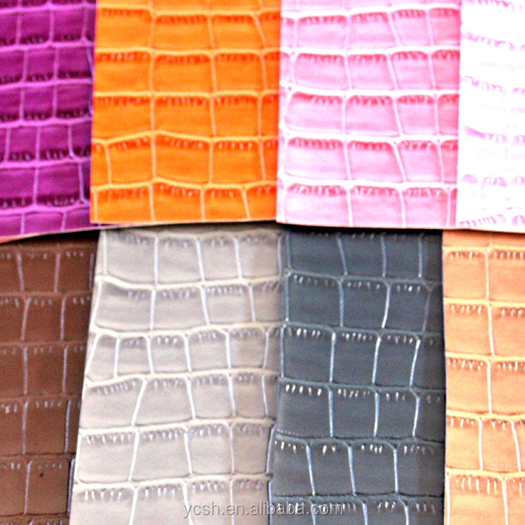 high quility new design faux crocodile skin pu leather synthetic leather for shoes handbags