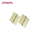 Satin Brass Square Corner Security Door Hinge