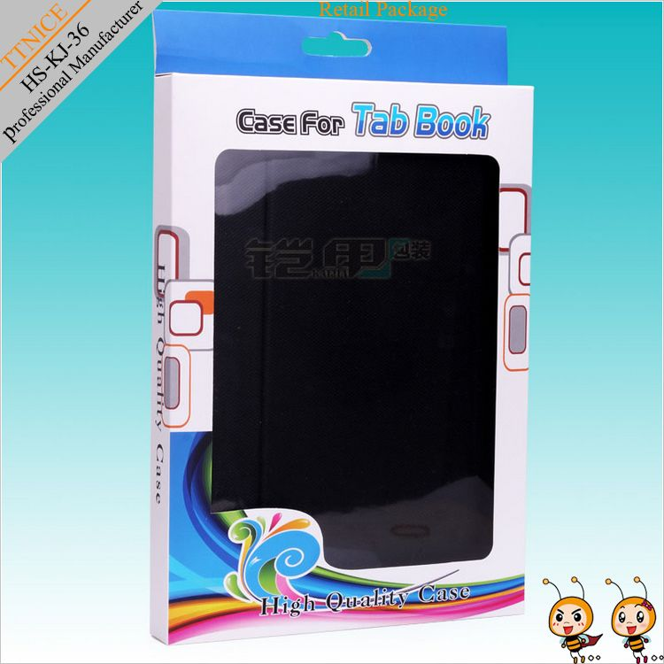 9.7 inch tablet pc leather case paper packing for ipad case