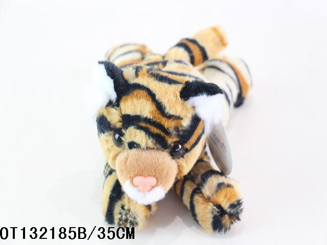 Printed Custom big head stuffed cartoon tiger