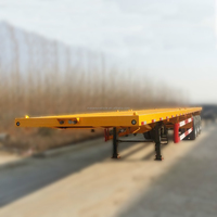 Supply Large Capacity 20ft Container Flatbed