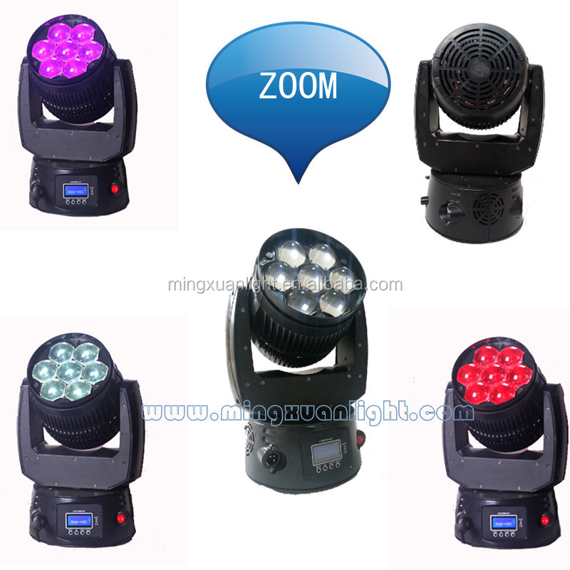 NEW 7pcs 15 led dmx mini moving head