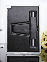New Elegant and Luxury Diamond Sewing PU leather case for iPad mini 3 with shoulder strap