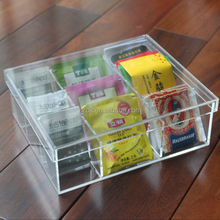plastic container clear acrylic tea bag storage box