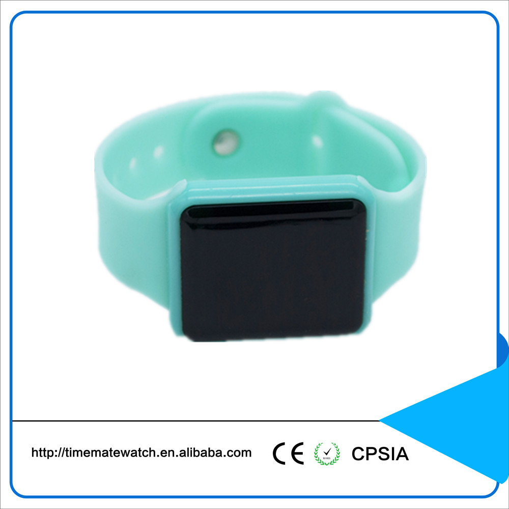 Fashion Sport LED Display Watches Silicone Rubber Touch Screen Digital wristband watch