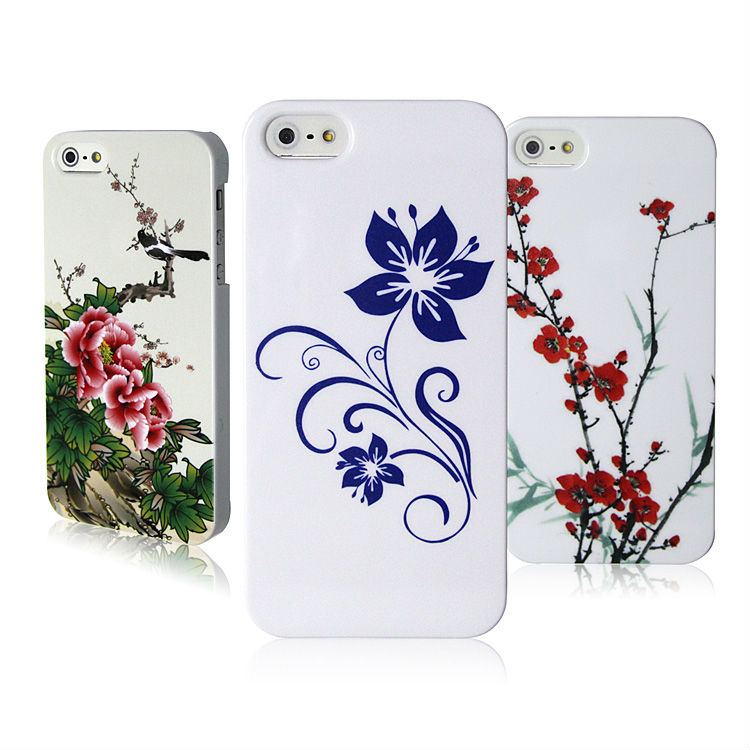 Chinese Painting Spray Drawing Phone Cases For iPhone 5