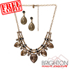 Anti Brass Vintage Metal Statement Jewelry