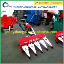 Small tractor mounted mini reaper binder mini rice combine harvester