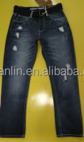 2015 basic jean fashion jeans with belt jeans pants stocklot