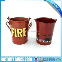 Metal buckets with handle for children
