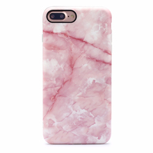 Hot Pink Marble Pattern IMD Shell Mobile Cell Phone Back Cover Soft TPU Glossy Matte Marble Case For IPhone6 6s 7 Plus
