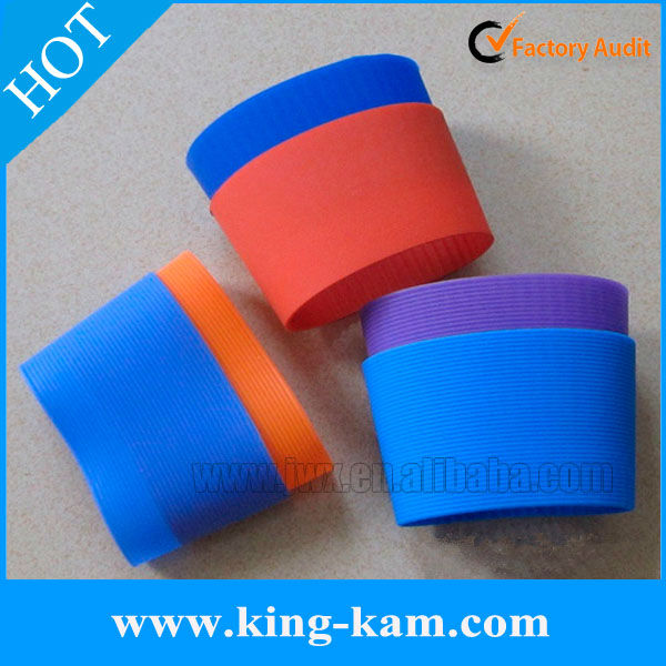 wholesale custom silicone coffee cup sleeve for mug