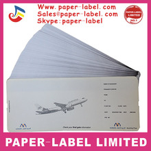 Custom paper boarding pass & airline boarding pass