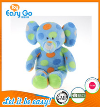 Customized OEM plush elephant toy the soft baby toy colorful elephant