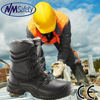NMSAFETY 2014 work men boots high heel steel toe shoes