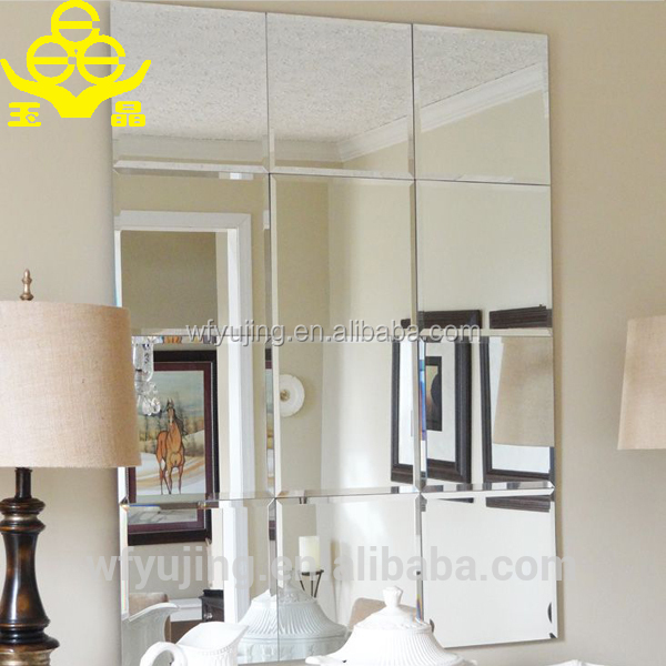 2016 chinese mirror factory wholesale decorative stick on for Cheap designer mirrors