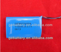 3.7v li-io1100mah battery with pcm wires connectors 523450