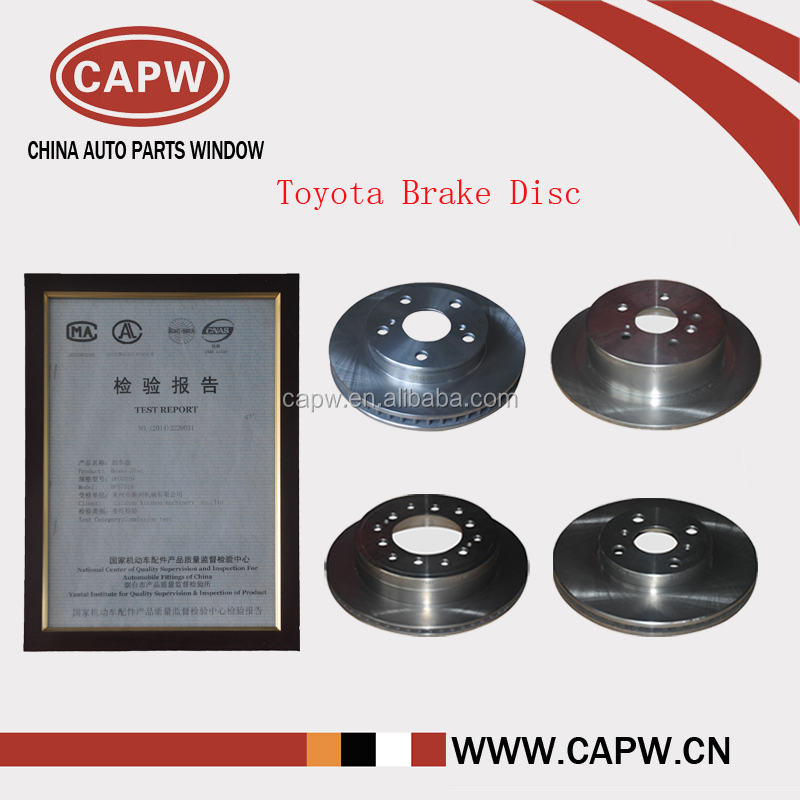 High Performance Toyota Brake Disc for Land Cruiser / Vios / Hilux / Corolla / Camry ect. Car Auto Spare Parts
