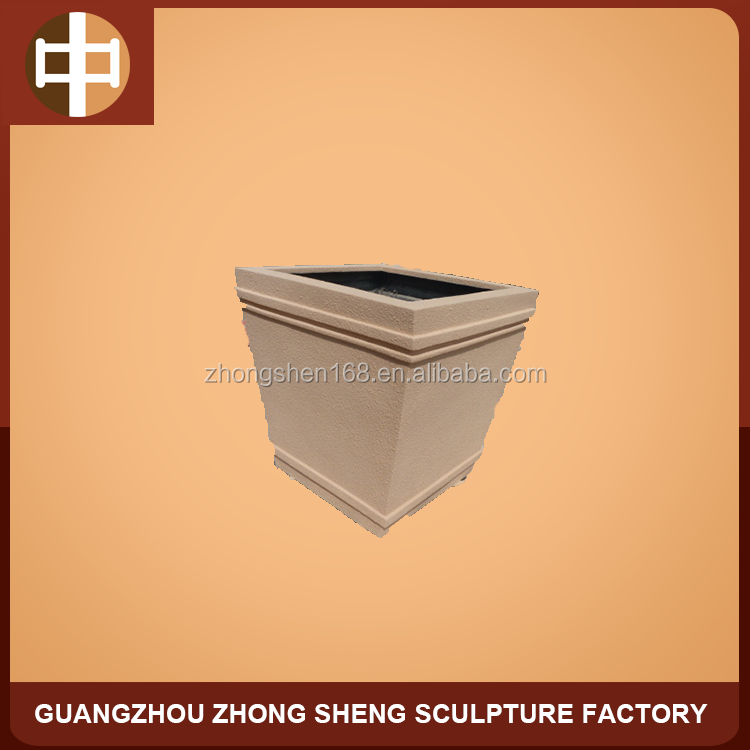 FRP & copper flower pot statue for home decorative