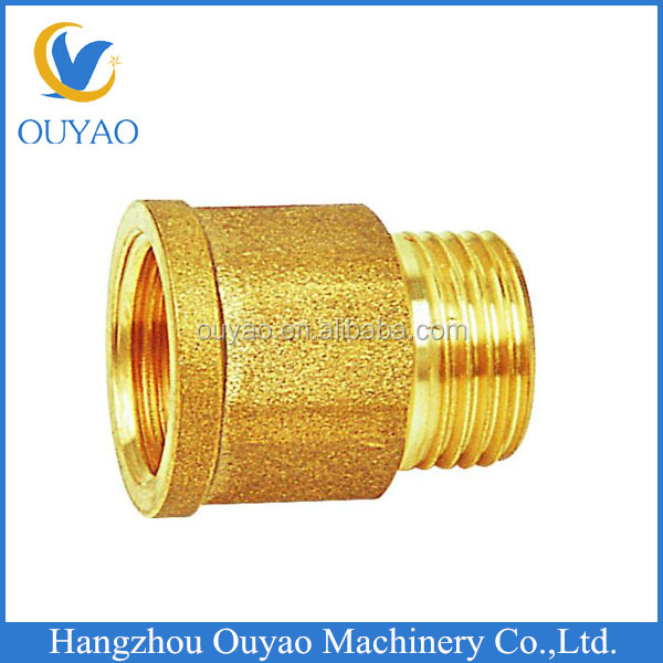 CNC custom processing male to female thread brass parts