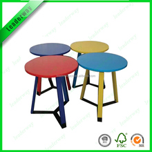 Nice design most popular metal leg with colorfull top small coffee table