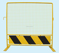 Yellow Colour Portable Road Barrier with Bottom Plate and flat base