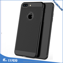 2017 new honeycomb Breathable Cooling Phone Case for iPhone 5 6 7 plus Cases, Mesh Hard PC Back Cover for iPhone 8 plus case