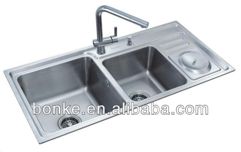 Bowl Kitchen Sink With Drainer Bk-8806a - Buy 2 Bowl Kitchen Sink ...