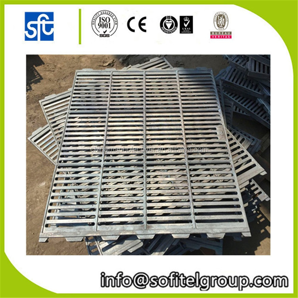 Ductile cast iron floor hot dipped galvanized Pig Sow Farrowing crate/pen/cage