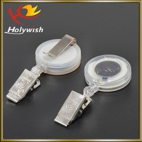 Holywish custom eco-friendly retractable badge reel alligator clip