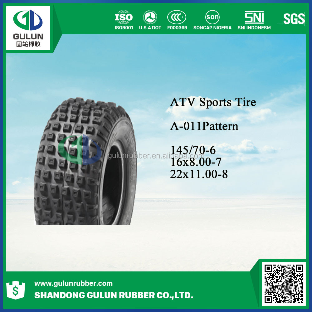 All Terrain Tyre ATV TYRE, Powersports Quads Tyre 4X4 UTV TYRE with DOT, REACH 16*8-7 145/70-6 22*11-8