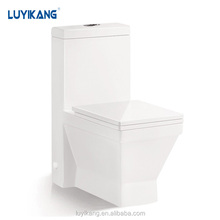 L845 Siphonic one piece toilet China manufacturer bathroom Square toilet