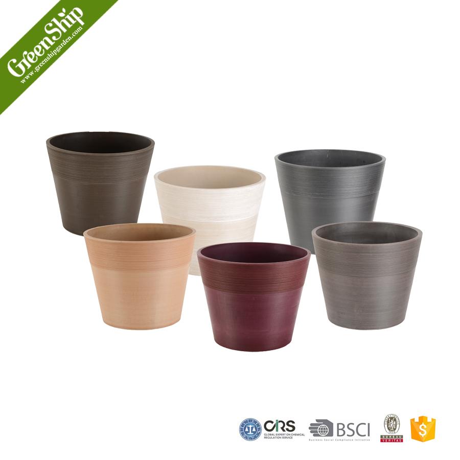 Decorative plastic flower pot recycleddurable unbreakable for Pot decoration pictures