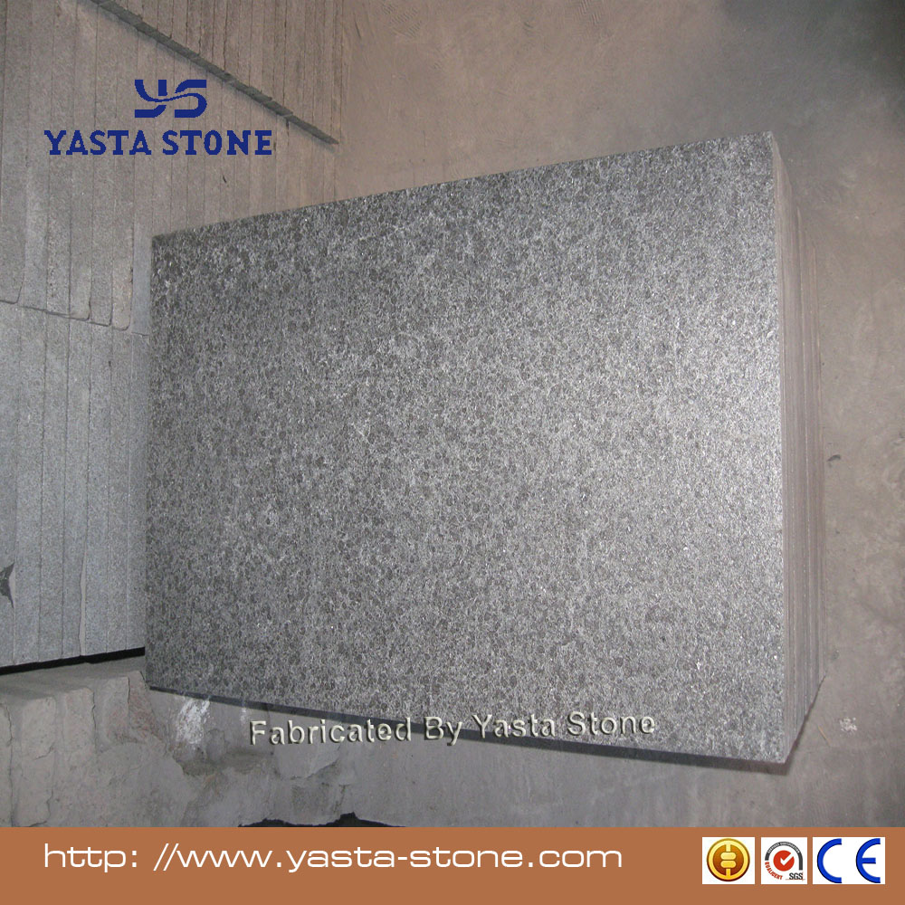 Yasta Good sale black G684 granite stone flamed floor tile