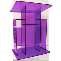 nobility elegant office purple acrylic pulpit furniture