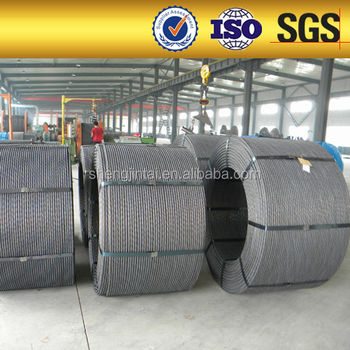 1*7 15.24mm Low Relaxation PC Steel Strand Price alibaba China