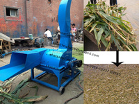 Hay corn stalk grass cutting machine crusher machine for grass